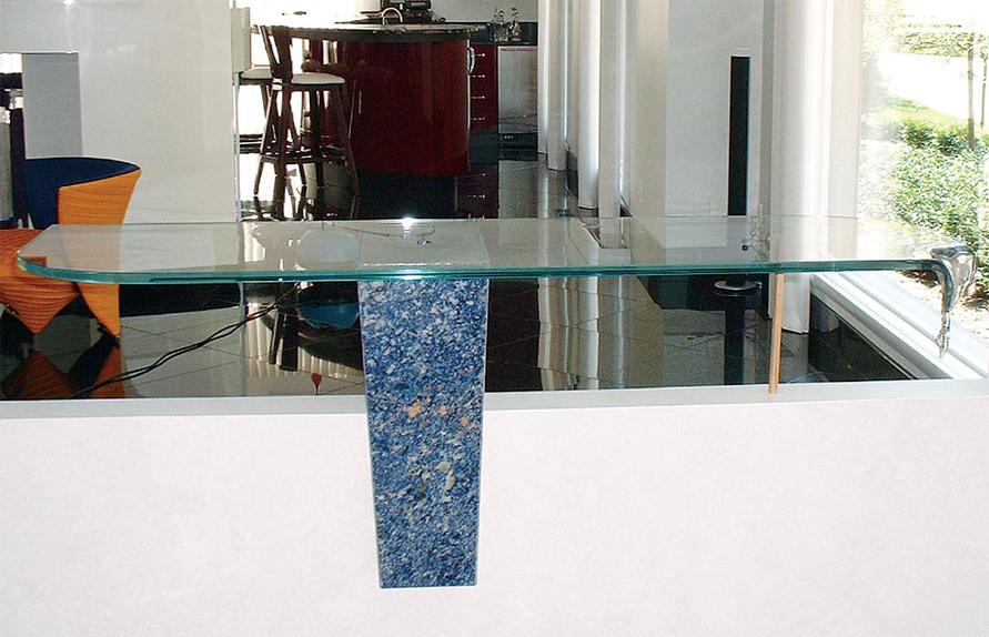 Custom glass table