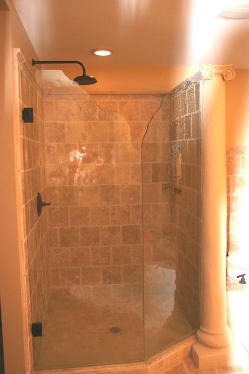 glass shower door design
