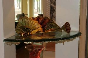 Custom Floating Glass Shelves