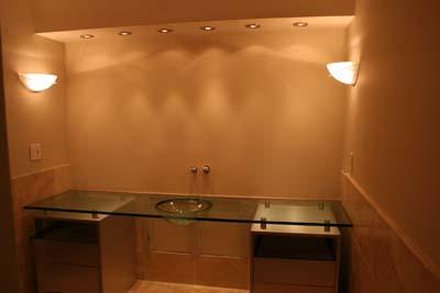 custom glass sink