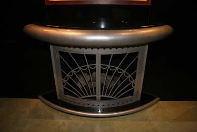 curved fireplace door